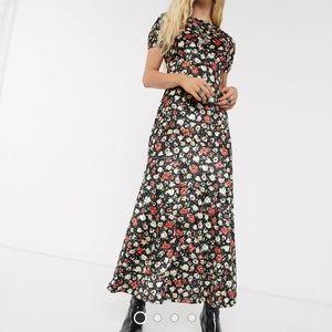 ASOS Maxi Velvet Floral Print Dress